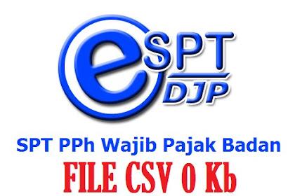 File CSV Size 0 Kb | eSPT PPh Badan