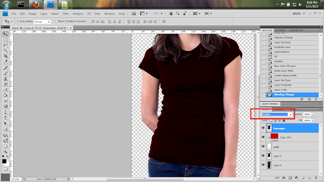 Tutorial Membuat Mockup Tshirt