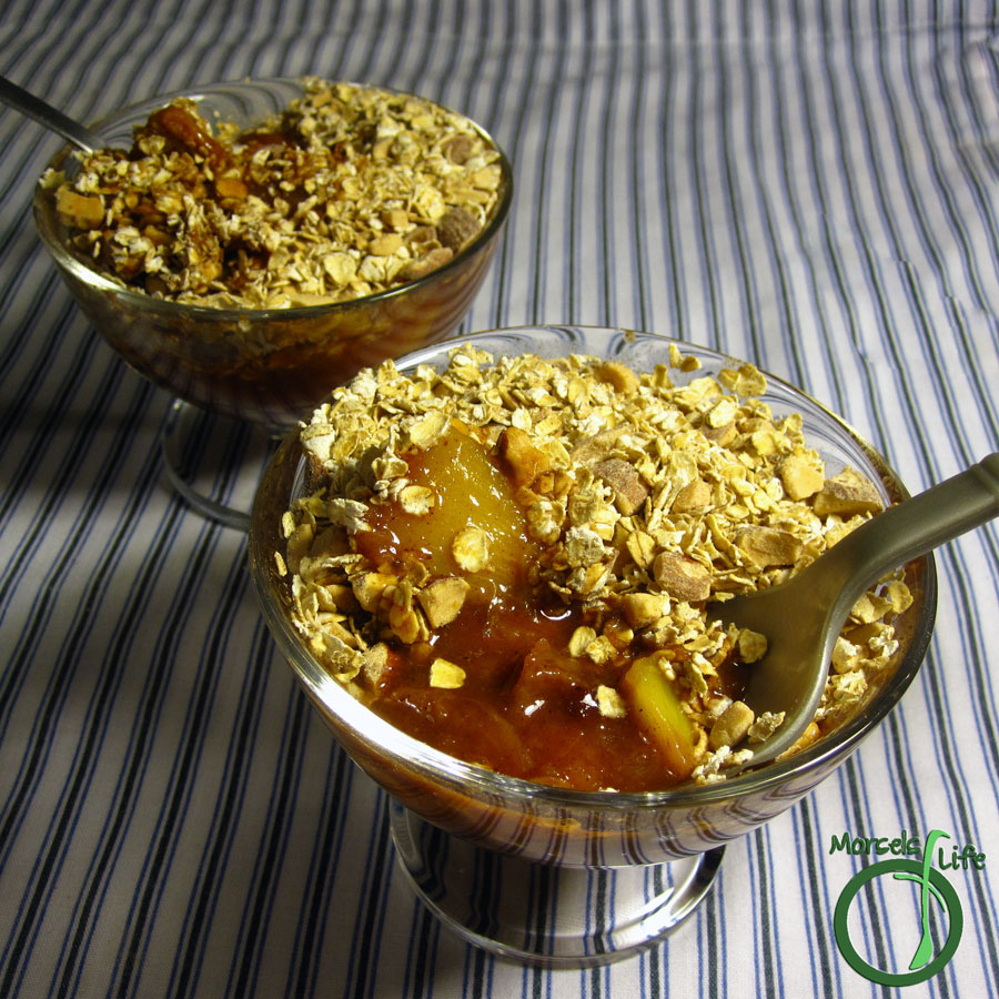 Morsels of Life - Quick Peach Cobbler - A quick and easy peach cobbler - perfect for a quick dessert (or anytime).