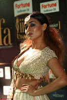 Apoorva Spicy Pics in Cream Deep Neck Choli Ghagra WOW at IIFA Utsavam Awards 2017 65.JPG