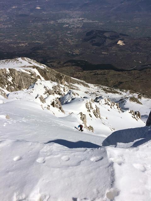 Direttissima monte Ocre, uscita in vetta