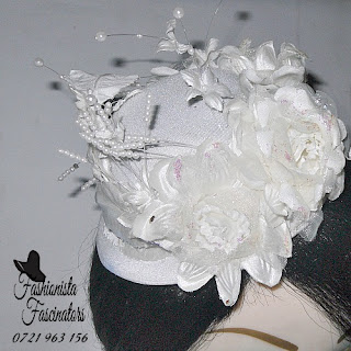 Buy white wedding fascinator mini hat Nairobi Kenya