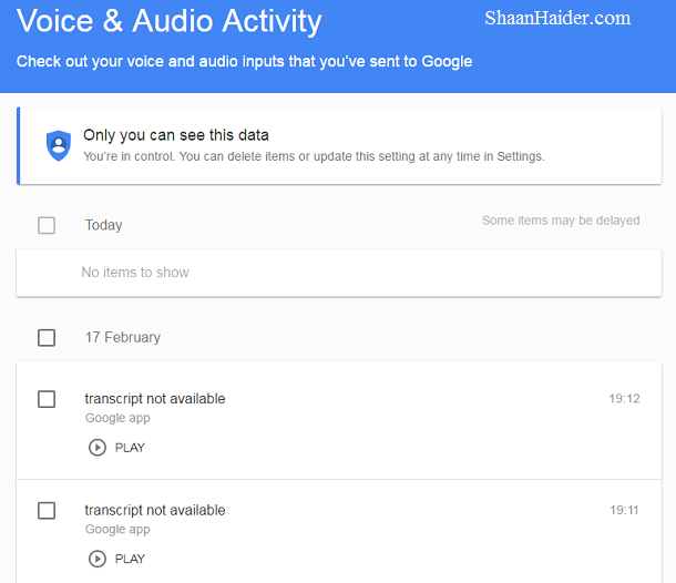 how to delete Ok Google voice commands history data saved on Google database for better privacy