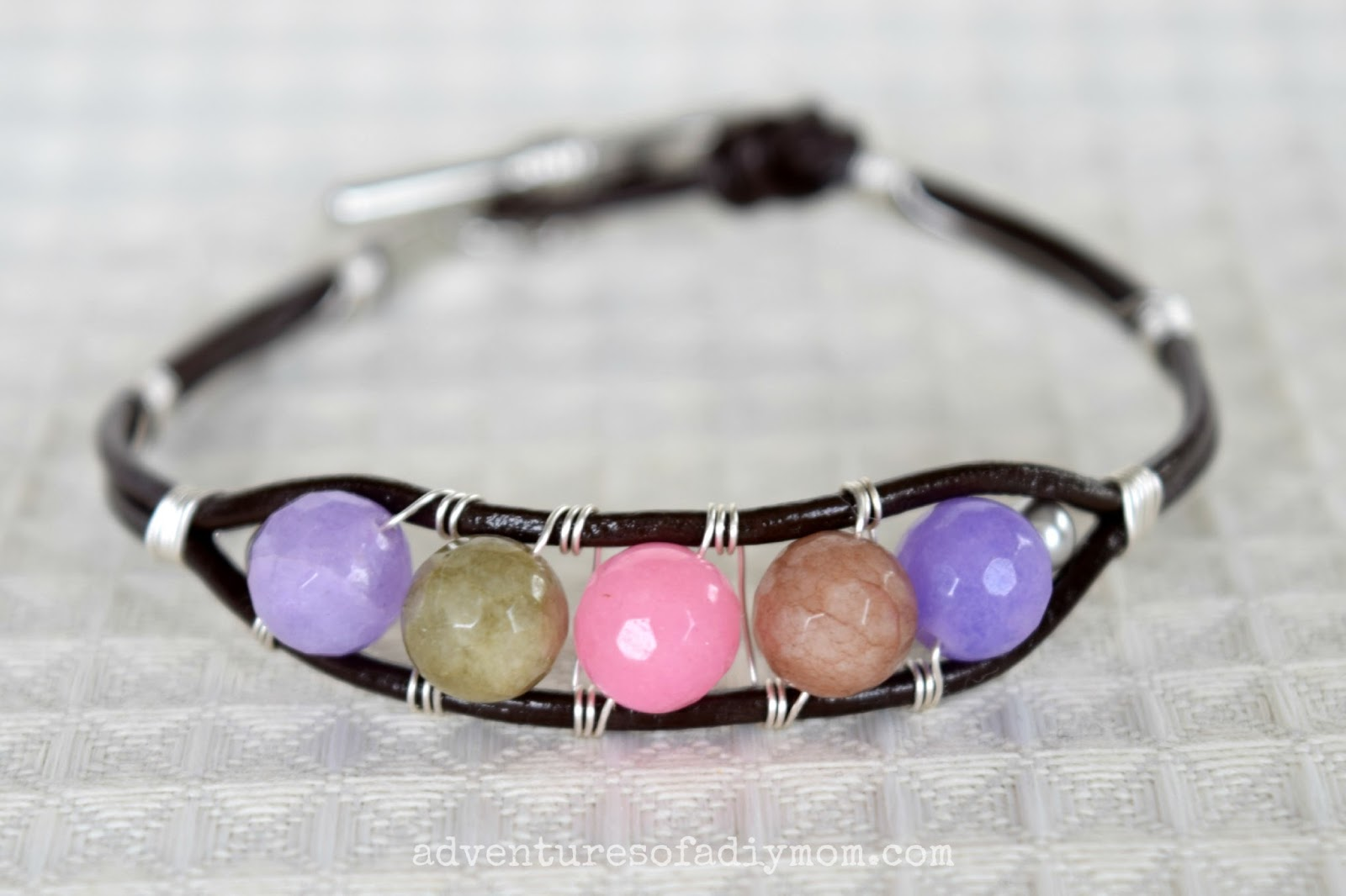 Leather Cord And Bead Bracelet