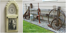 outdoor junk repurposed projects