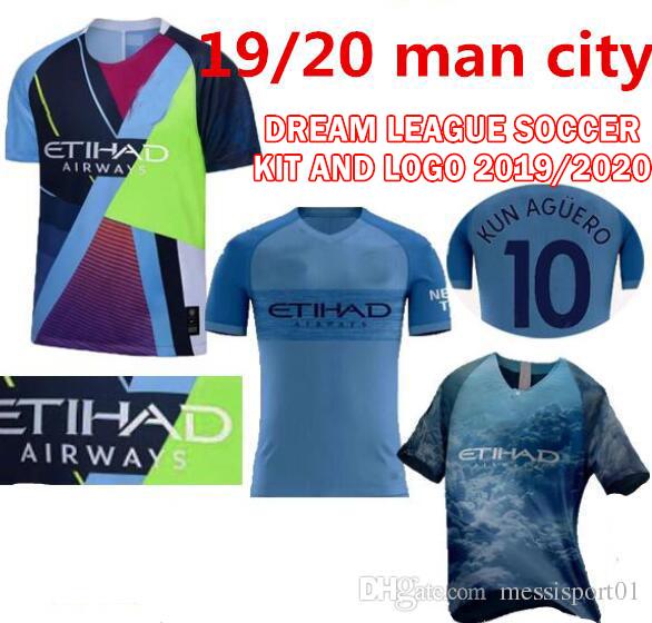 brand new 6e244 8ba6a Manchester City 2019/20 Dream League Soccer Kit and Logo ...