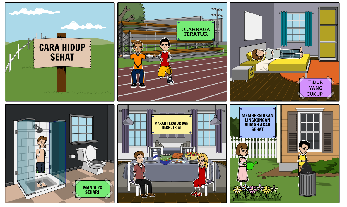 Share Story Board Hidup Sehat Tugas