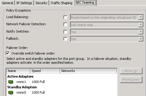 Configuring multiple vMotion VMkernel port groups in vSphere 5