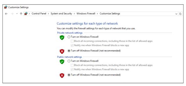 gambar Cara menonaktifkan windows firewall