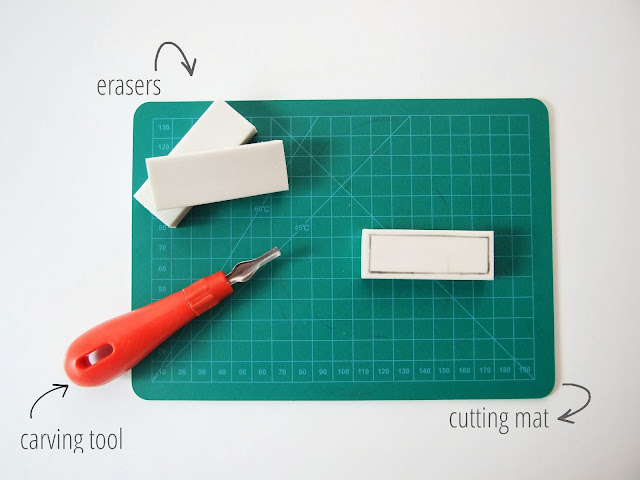 Things you'll need to make your own Diy Eraser Stamps - Gathering Beauty
