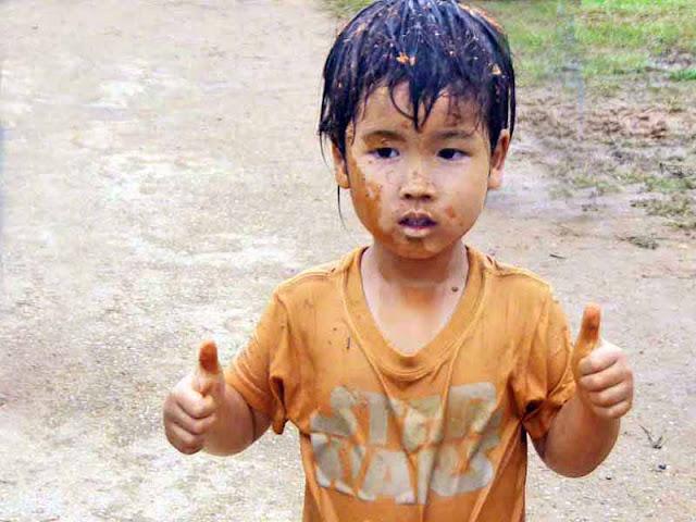 child, festival, mud, Okinawa