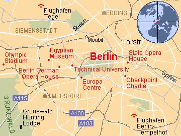 Mapa Berlina