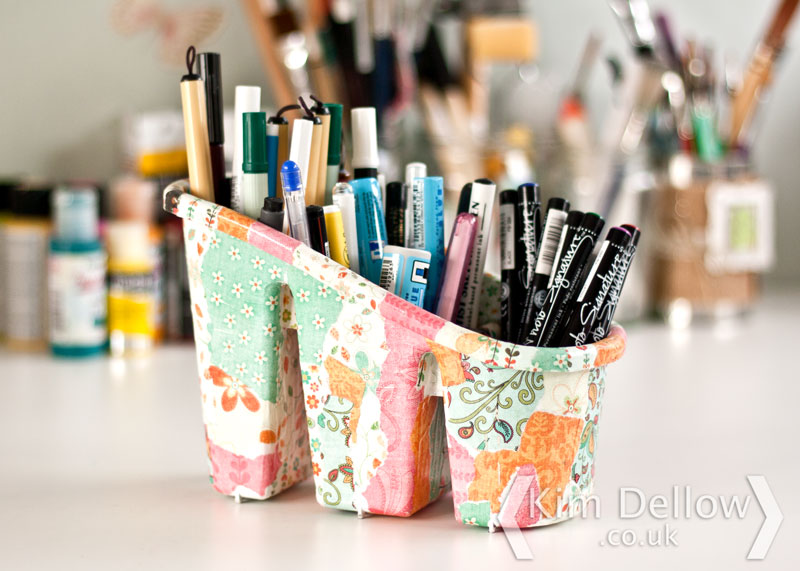 Use the new storage for pens, brushes, bits and bobs or even cutlery!