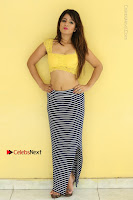 Cute Telugu Actress Shunaya Solanki High Definition Spicy Pos in Yellow Top and Skirt  0467.JPG