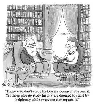Chiste gráfico dibujado por el humorista Tom Toro