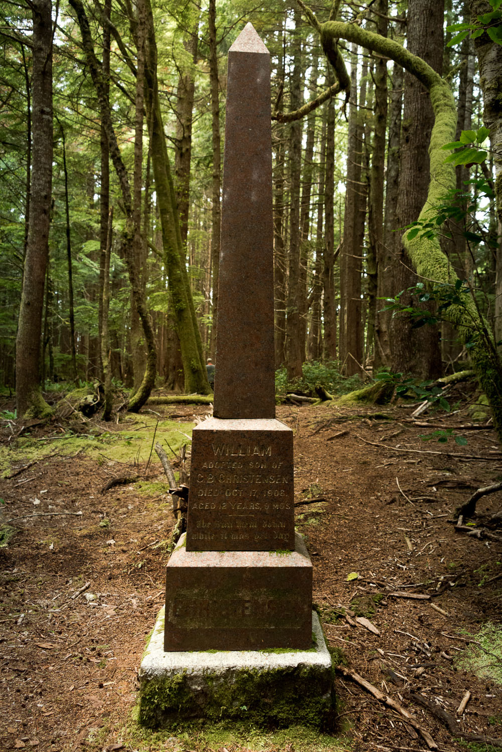 Christinasen Grave in Cape Scott Provincial Park and North Coast Trail