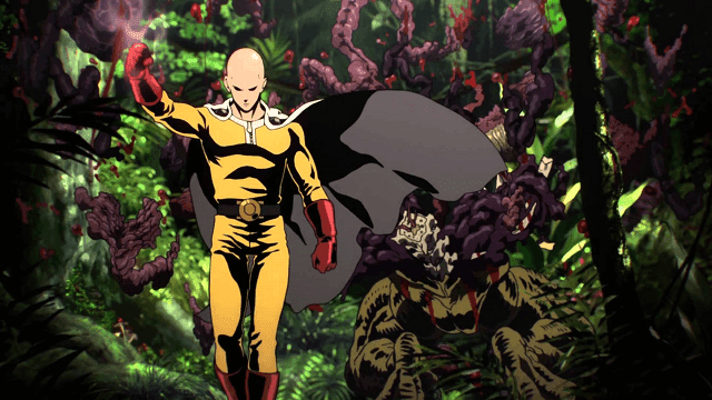 Saitama dapat mengalahkan musuhnya hanya dengan satu pukulan