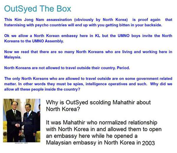 Hubungan Dengan Korea Utara: Pengikut Virus Cap Bunga Hentam Mahathir