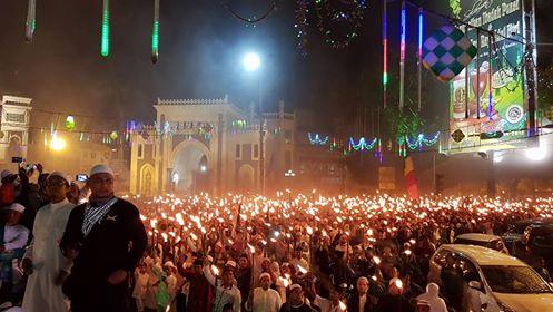 Pawai Obor Ribuan Umat Islam di Kota Medan Serukan Ramadhan Bulan Jihad dan Kemenangan