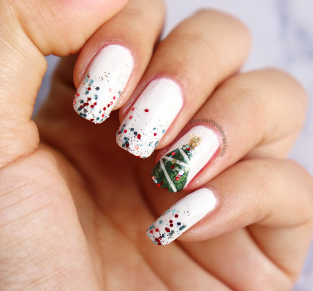 Christmas Tree Nailart Tutorial (Video Inside)