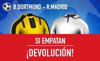 sportium devolucion si Dortmund vs Real Madrid empatan 27 septiembre