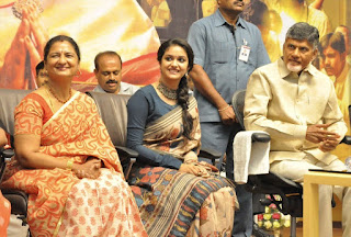 Keerthy Suresh in Saree with Cute and Lovely Smile Felicitated by Chandra Babu Naidu  3