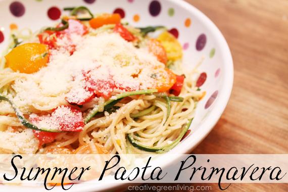Light & Healthy Summer Pasta Primavera
