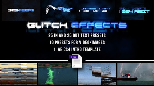 Glitch Presets for Text and Video - Hi-tech Packshot - After Effects Project (VideoHive)