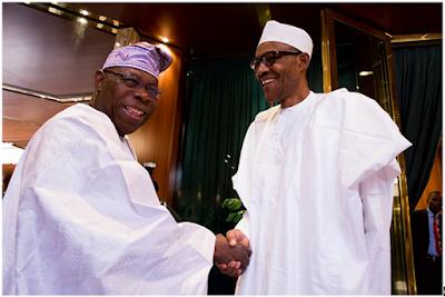 Buhari holds Obasanjo in 40-minute meeting in London