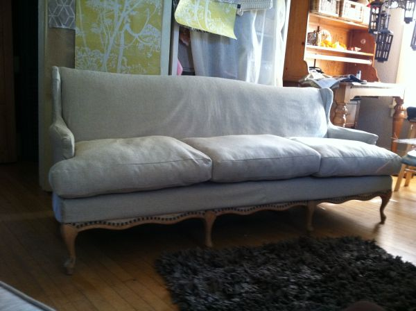 My Best Friend Craig: SLIPCOVERED FRENCH SOFA/SETTEE