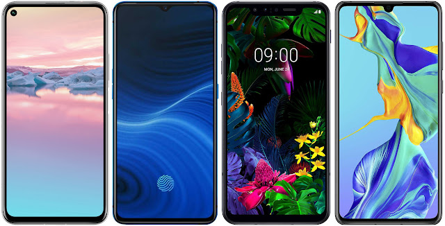 Honor 20 Pro 256 GB vs Realme X2 Pro 128 GB vs LG G8 Smart Green Thinq vs Huawei P30