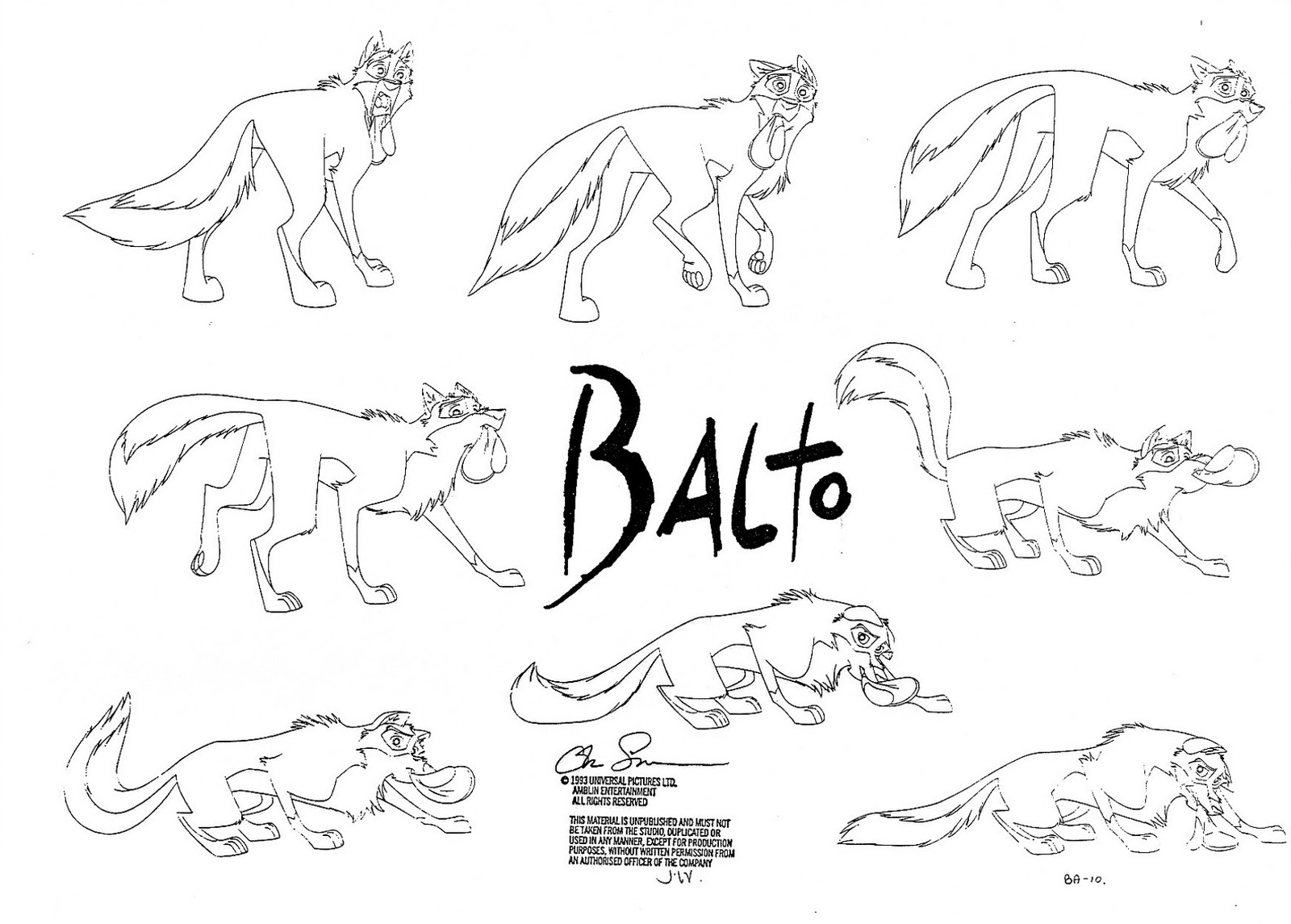 Cartoon Concept Design Character Design Balto Part 2