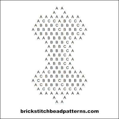 Click for a larger image of the Skeleton Bone Halloween bead pattern word chart.