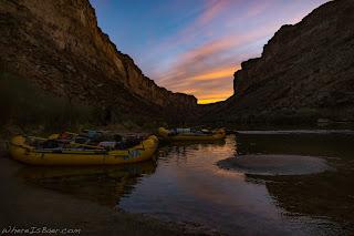 rafts, sunset grand canyon colorado, whereisbaer colors