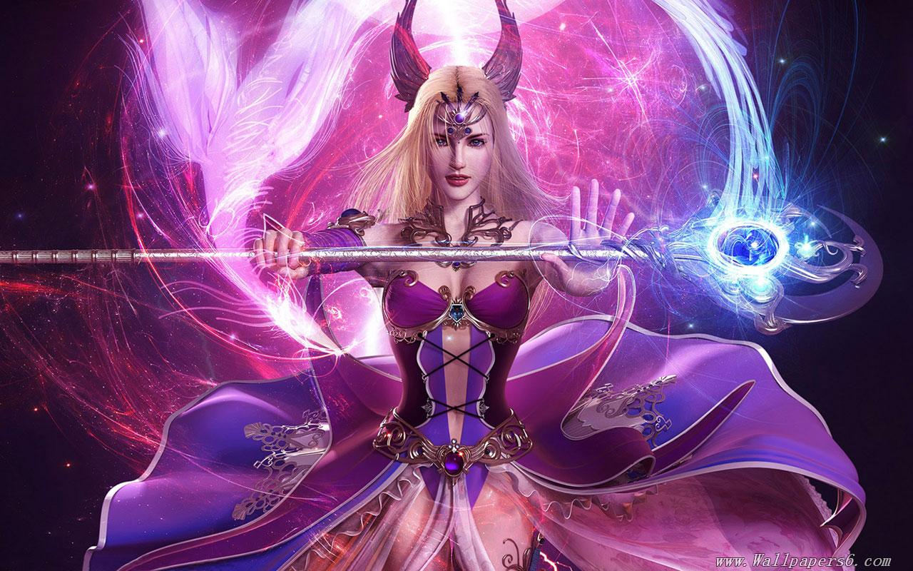 Amazing   Wallpaper Horse Magic - Beautiful-Sexy-Fairy-With-Magic-Stick-Purple-Flame  Pictures_228511.jpg