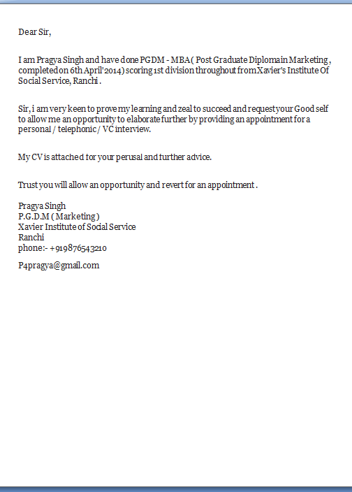 covering letter to apply for a job - job application covering letter