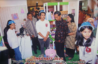 Booth Char n Coll dikunjungi oleh Jokowi - Pameran Inacraft Jakarta 2015