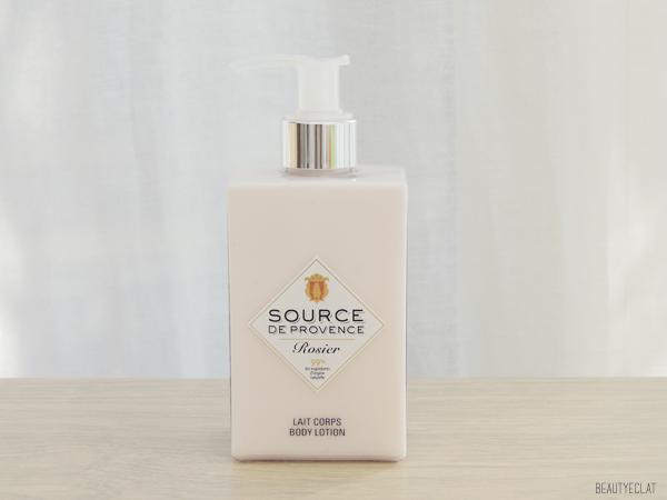 revue avis test source de provence lait corps savon shampoing