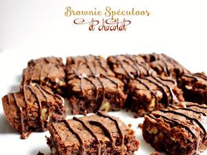 Brownie spéculoos et chocolat