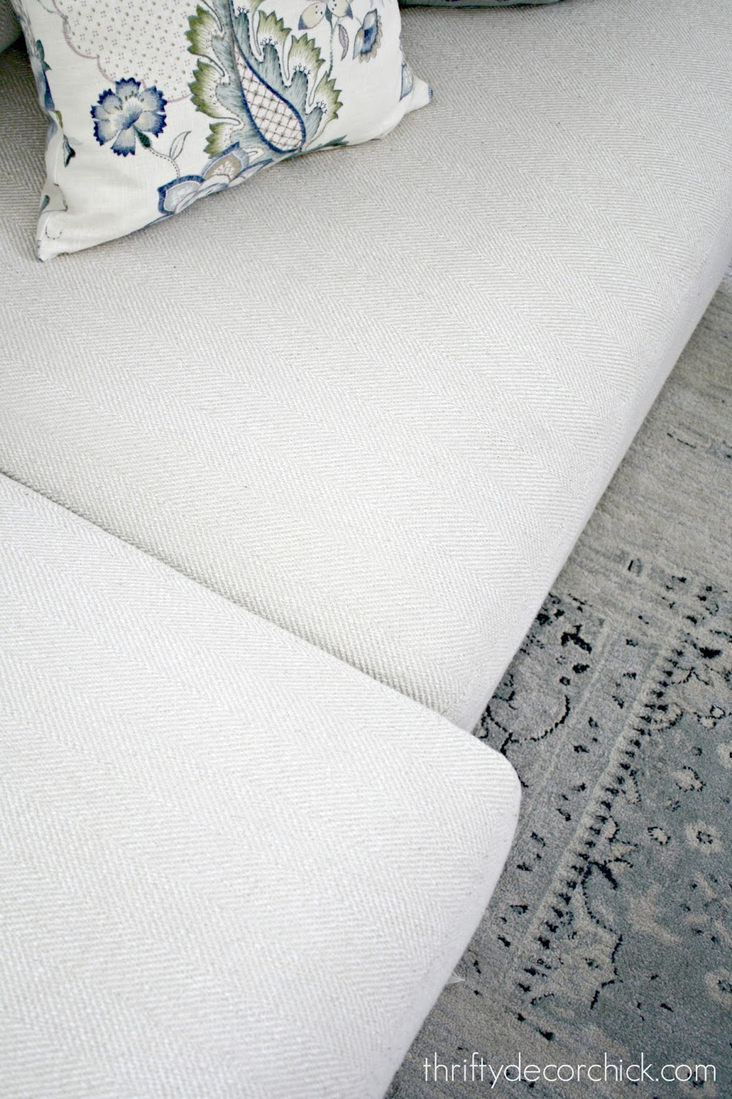Simple trick for sliding sofa cushions