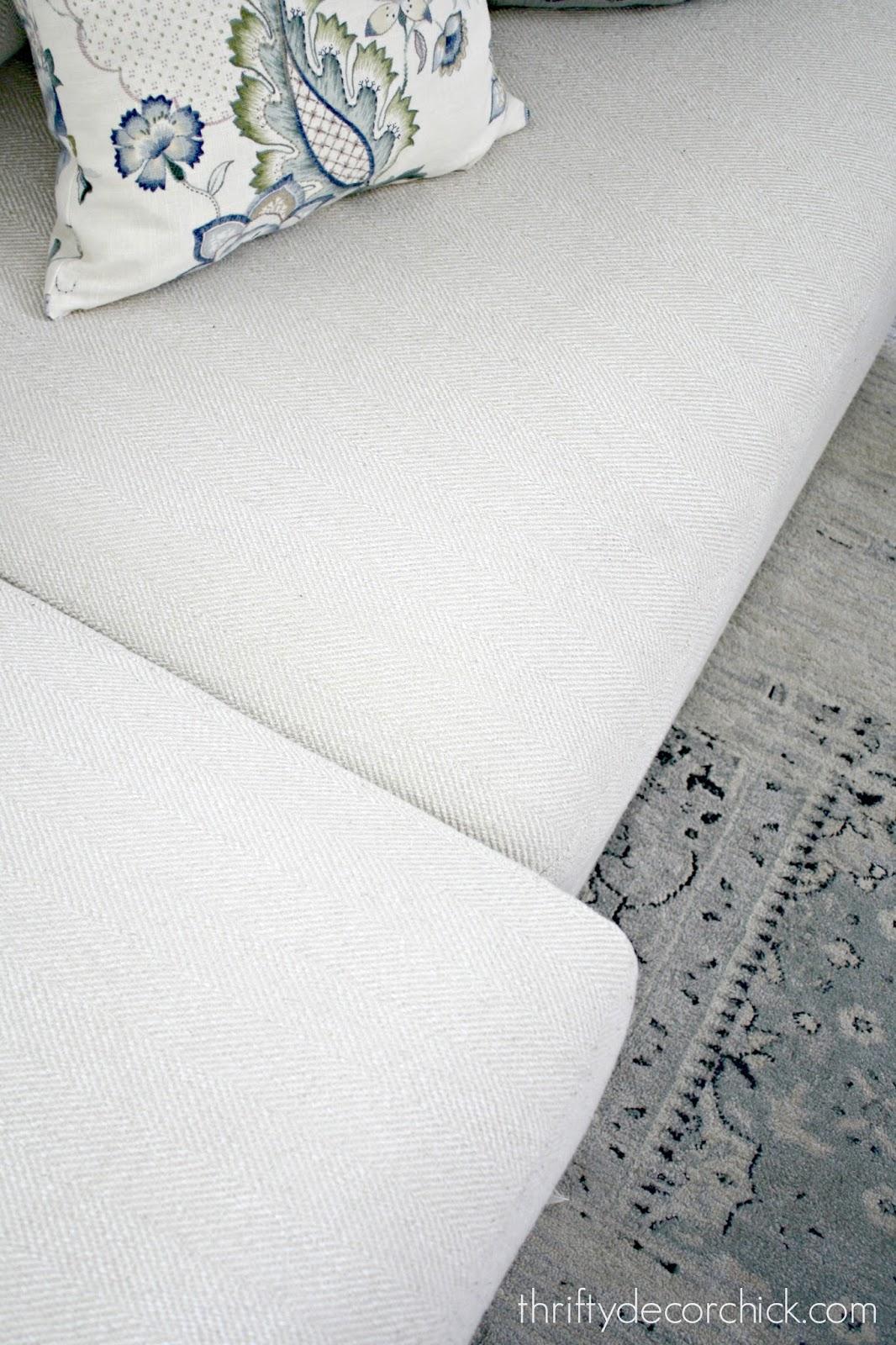 Simple trick for sliding sofa cushions