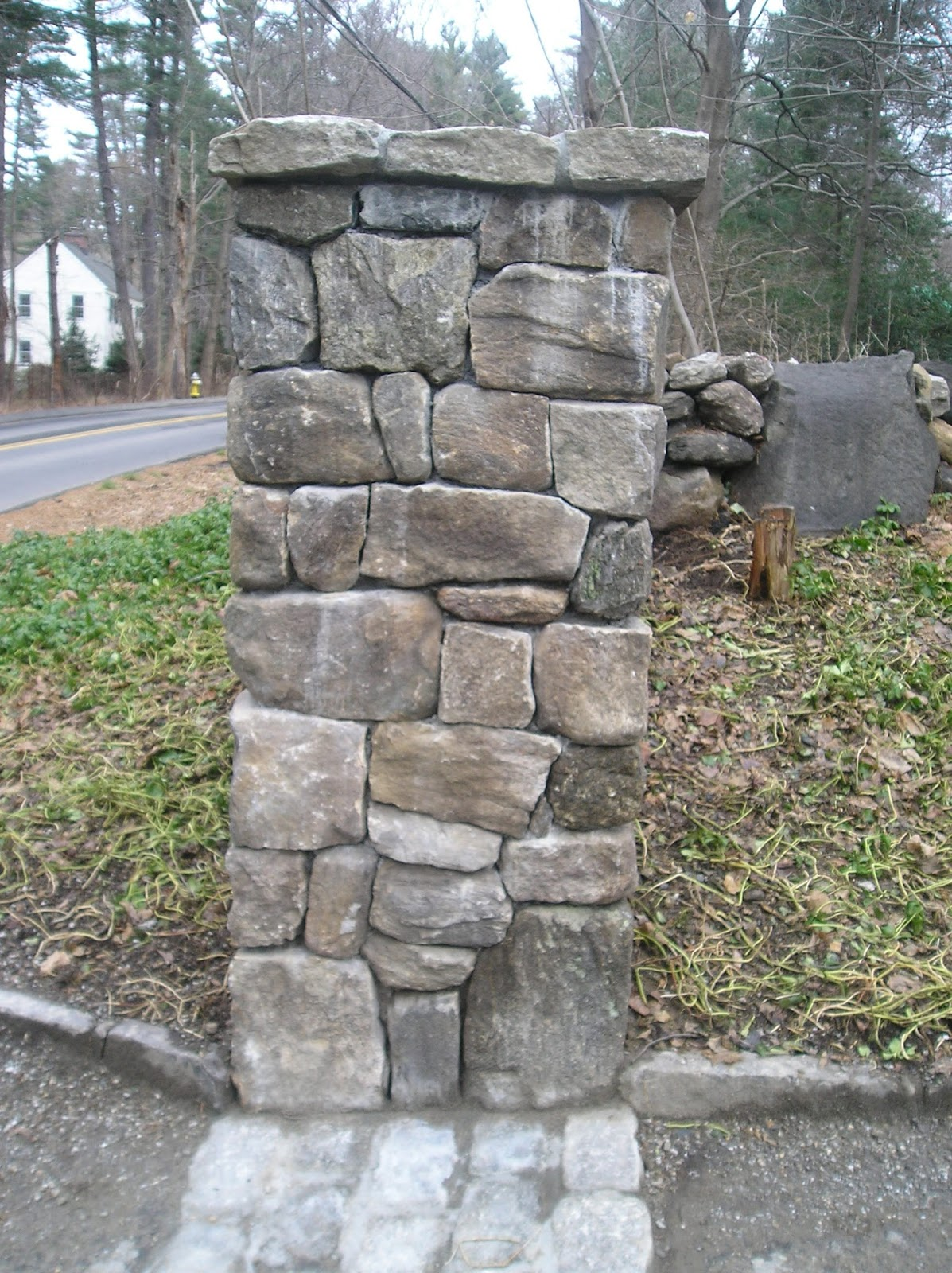 Stone Entrance Pillars : Encourage stone pillars