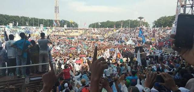 Lautan Massa di Gelora Sidoarjo: Kemenangan Prabowo-Sandi, Kemenangan Aswaja!