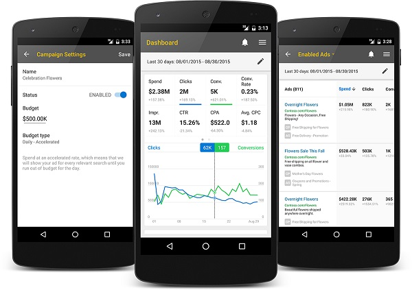 Microsoft launches Bing Ads app for Android