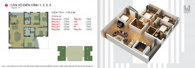 4 căn góc lớn tòa N03-T5