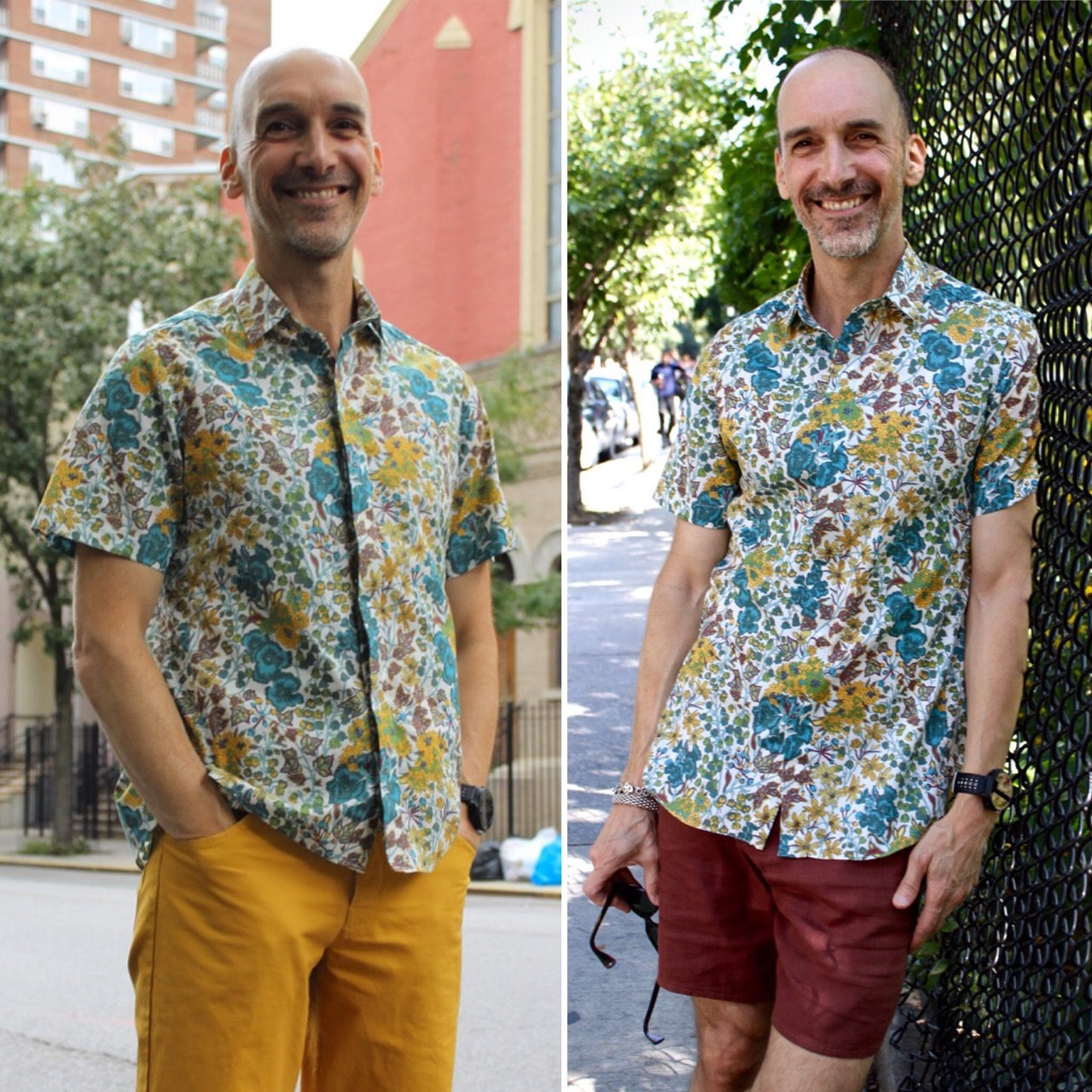 Male pattern boldness new shirt new class and another vintage i used vogue 8889 an in print fitted mens shirt pattern ive tried a few times before jeuxipadfo Images