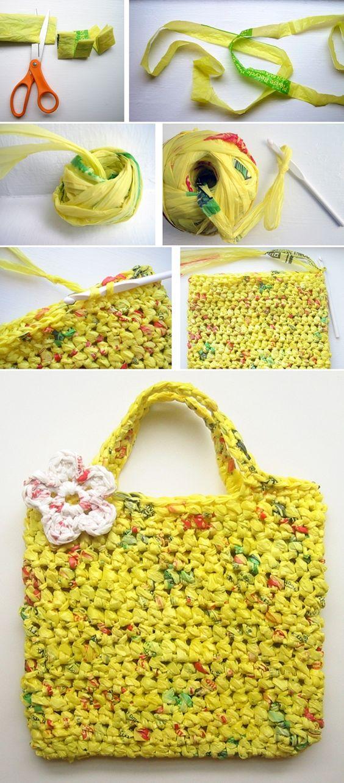 10 Bolsos De Crochet Increibles Hechos Con Productos Reciclados
