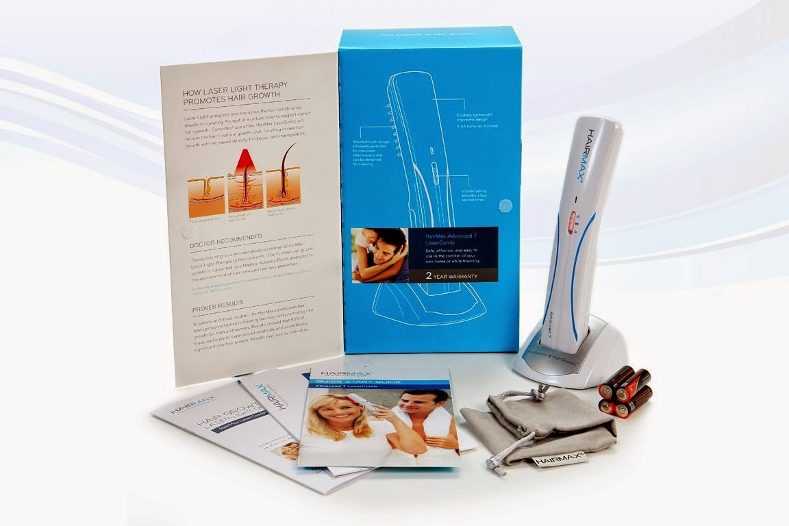 HairMax LaserComb Advanced 7 - FDA Cleared to Promote Hair Growth