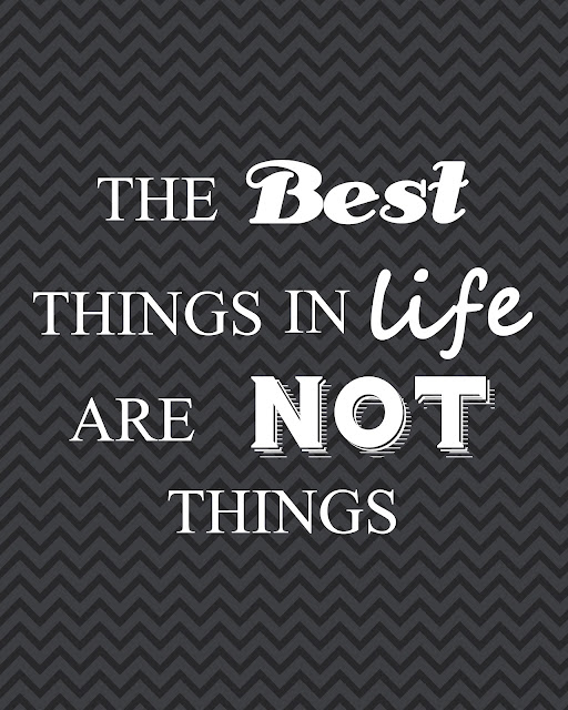 The Best Things in Life are not Things Quote --- Cheng and 3 kids