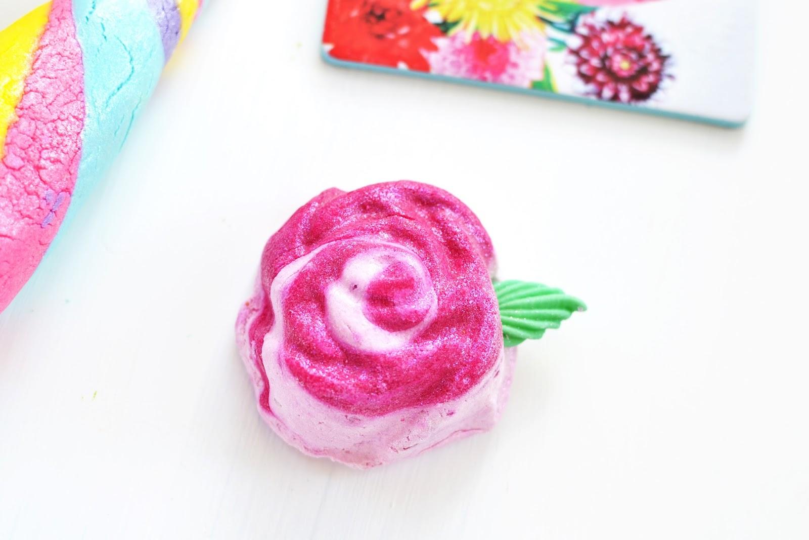 lush rose bubble bar